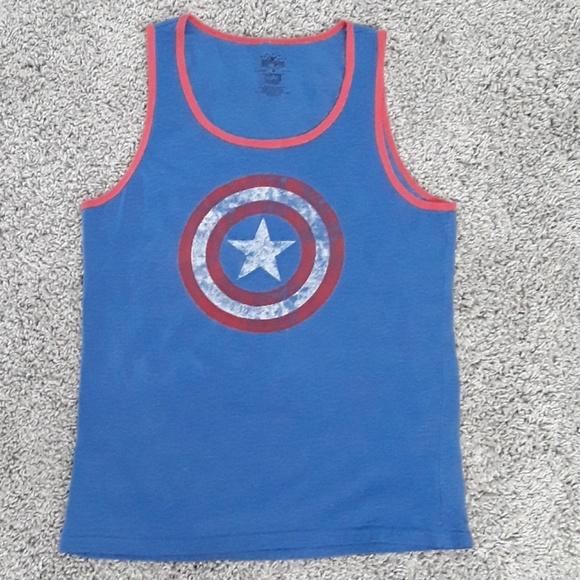 f637cf84f77959 Mens Marvel Captain America Tank Top. M 5a81c6052ae12f54208ba124